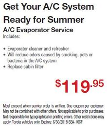 Summer Savings On A/C Evaporator Service