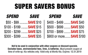 Super Savers Bonus