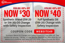 Synthetic Blend Oil Change with Safety Inspection