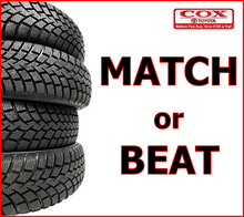 TIRE SAVINGS: We Match or Beat Competitor Pricing