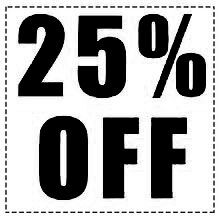 Up to 25% OFF