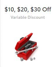 Up to $30 OFF Variable Discount