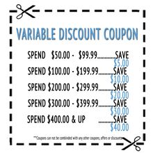 Variable Discount Coupon