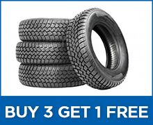 Buy 3 New Tires and Get The 4th One FREE!