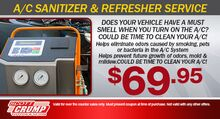 A/C Sanitizer & Refresher Service