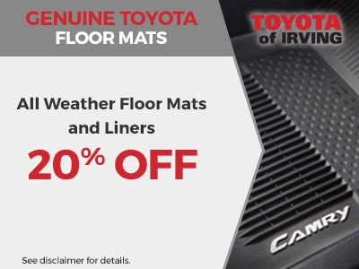 Genuine Toyota All Weather Floor Mats and Liners