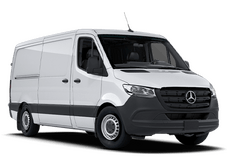 New Mercedes-Benz Sprinter Cargo Van at San Juan