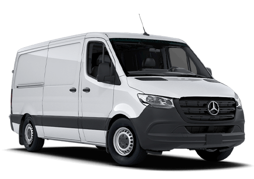 New Mercedes-Benz Sprinter Cargo Van near Greenland