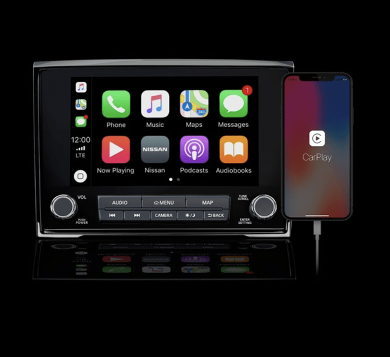 Largest standard screen in its class including Apple CarPlay