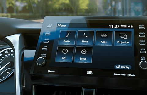9-in. multimedia touchscreen