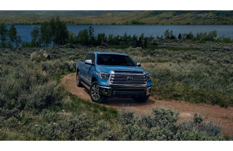 2020 Toyota Tundra on a dirt road