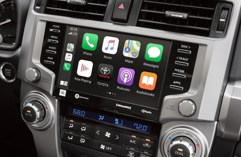 2021 Toyota 4Runner Apple CarPlay on display