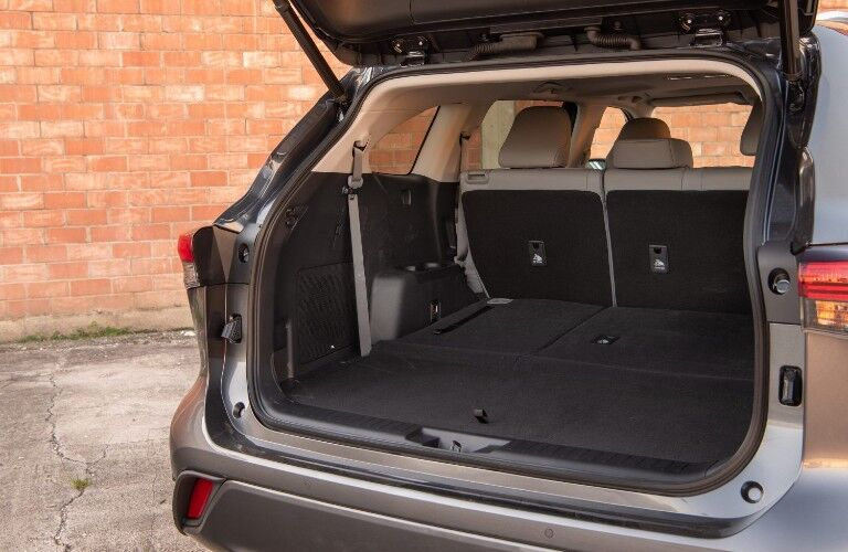 Cargo space of the 2020 Toyota Highlander