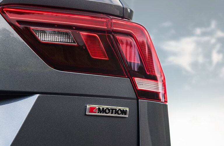 The rear taillights on the 2021 Volkswagen Tiguan.