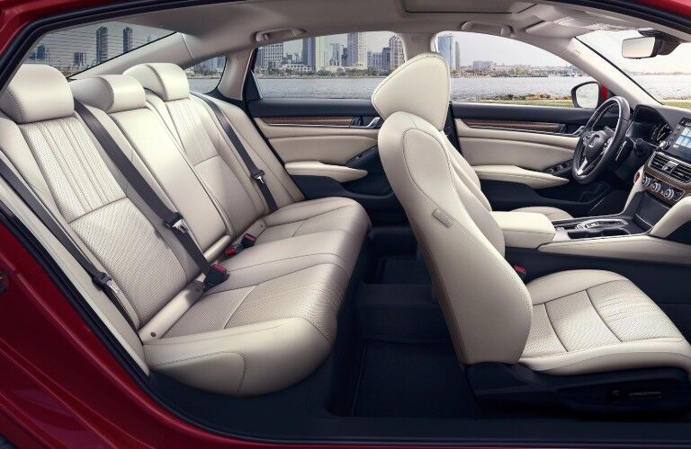 Passenger angle of the seats inside the 2020 Honda Accord