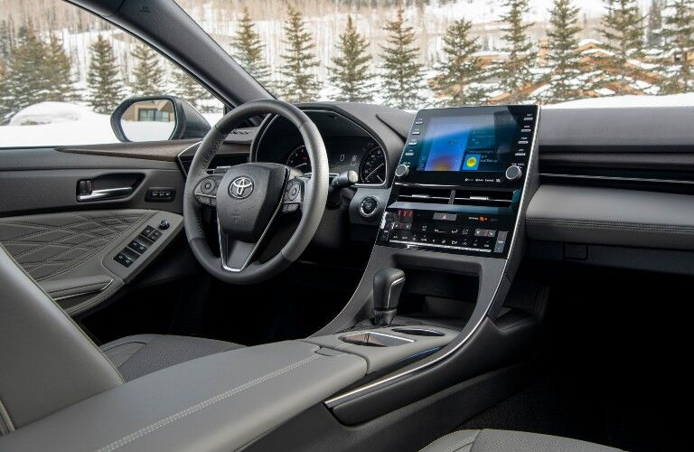 Interior front dash of the 2021 Toyota Avalon