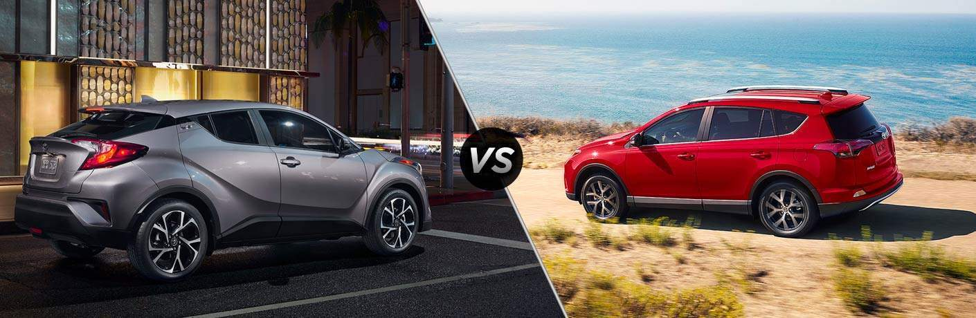 2018 Toyota C Hr Vs 2017 Rav4