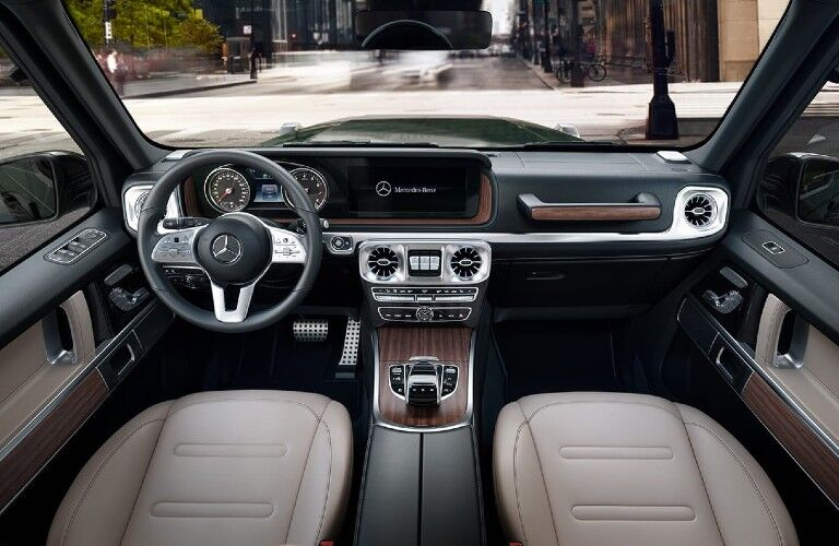 Interior front dash of the 2021 Mercedes-Ben G-Class