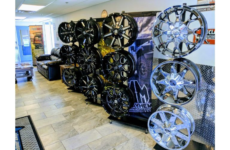 Wall of custom rims