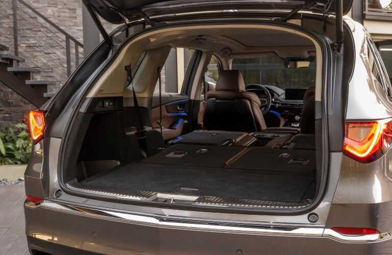 Owners of the 2022 Acura MDX can fit a lot of cargo in the rear of the vehicle.