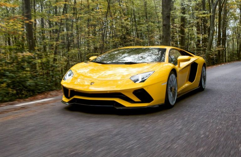 2020 Lamborghini Aventador S in yellow