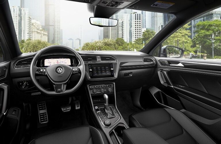 Front row and steering wheel of 2020 VW Tiguan
