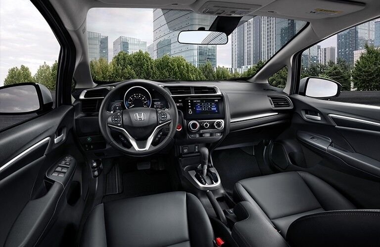 2020 Honda Fit interior looking forward dashboard windshield view