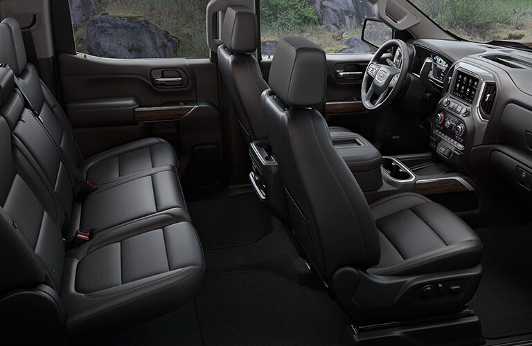 Seats inside of the 2020 GMC Sierra 1500