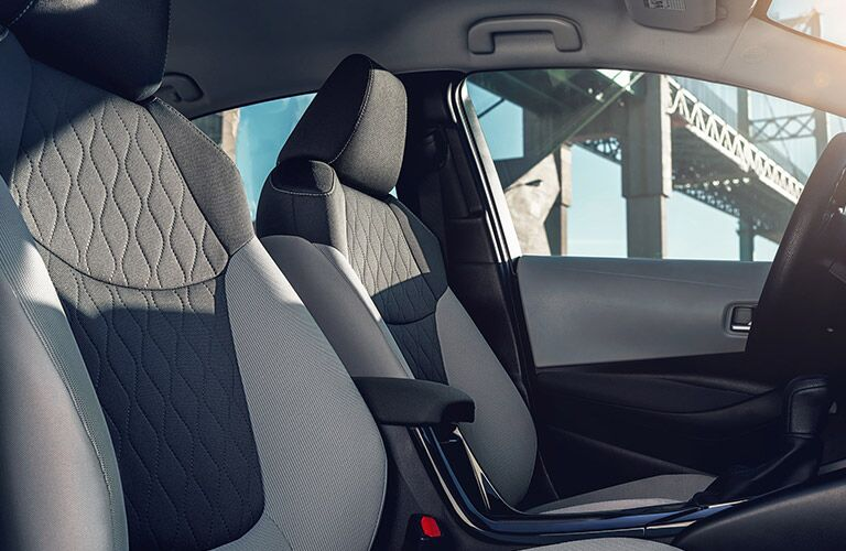 Seating in 2021 Toyota Corolla Hybrid front seats