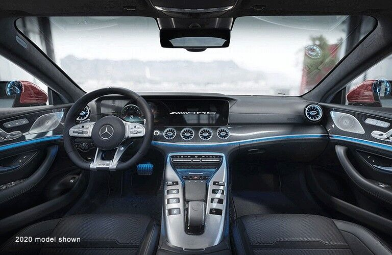Interior front dash of 2021 Mercedes-AMG GT-Class