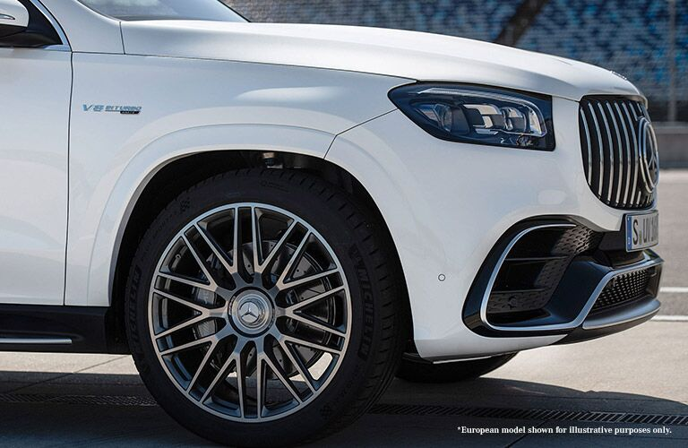2021 MB GLE exterior front fascia front half of passenger side