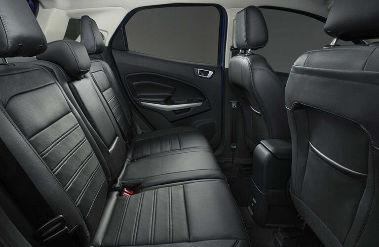 Rear row of seating inside 2019 Ford EcoSport