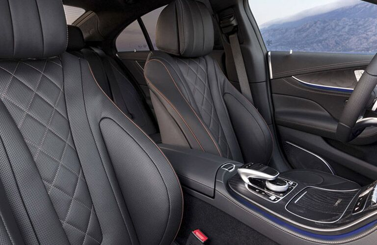 Front two leather seats of 2019 Mercedes-Benz CLS