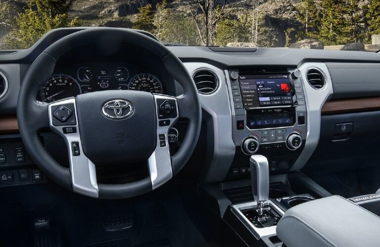 Interior front dash of 2021 Toyota Tundra