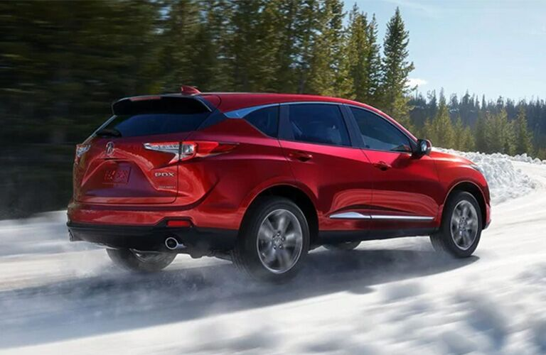 2021 Acura RDX in red