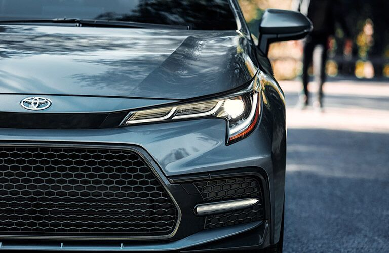 2021 Toyota Corolla Hybrid front fascia and headlights