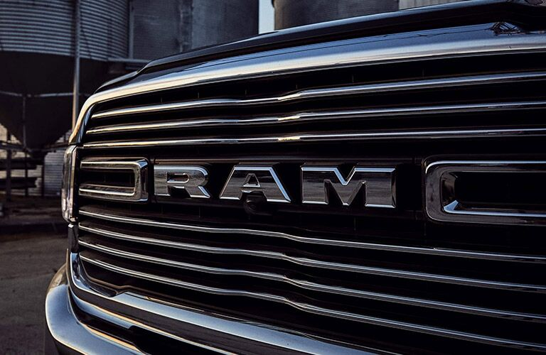 Close up of the front grille on the 2020 RAM 2500