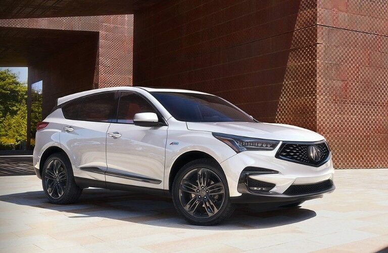 2020 Acura RDX white front side view