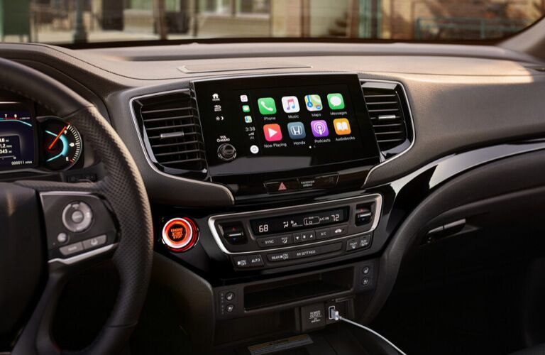 Closeup of 2020 Honda Passport infotainment system