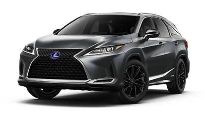 Exterior of the Lexus RXhL AWD Black Line Special Edition shown in Cloudburst Gray.