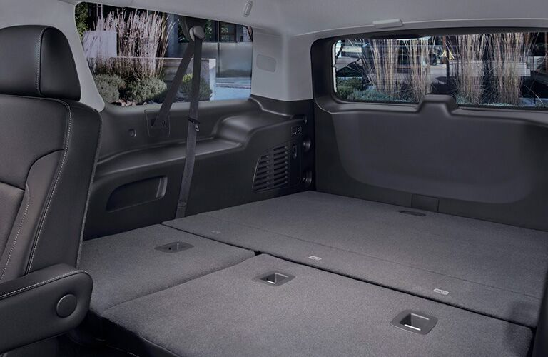 2020 GMC Yukon cargo area with the seats down