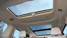 Sunroof open in an SUV