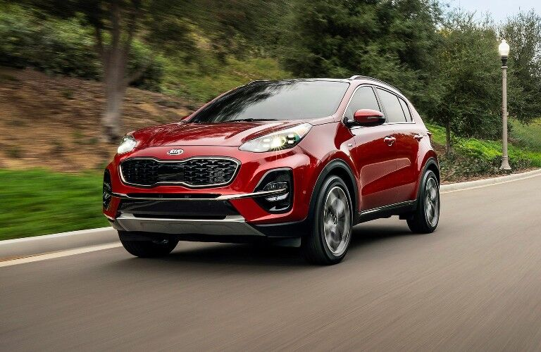 2021 Kia Sportage from exterior front