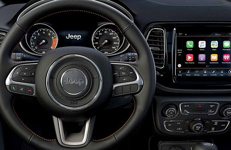 Steering wheel in 2020 Jeep Compass