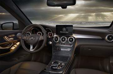 interior of 2018 mercedes-benz glc suv