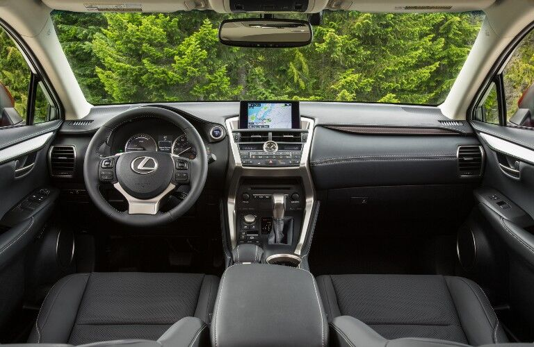 Interior front dash of 2021 Lexus NX Hybrid