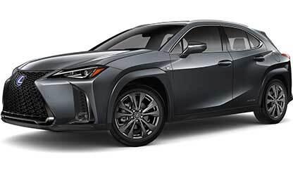 Exterior of the Lexus UX F SPORT shown in Cloudburst Gray.