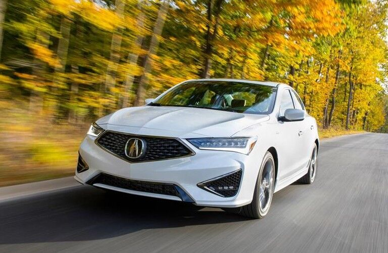 2020 Acura ILX front driver side driving country road
