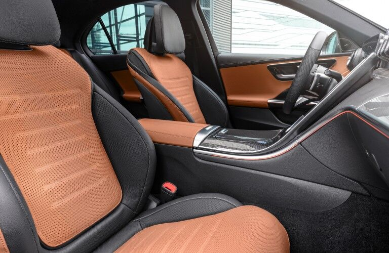 Interior front row of the 2022 Mercedes-Benz C-Class