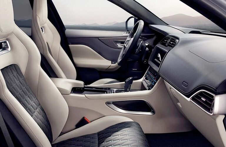 seating in the Jaguar F-PACE
